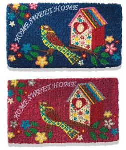 Doormat~ Bohemian Hippy Coconut Fibre Home Sweet Home Bird House Doormat~ By Folio Gothic Hippy DM16